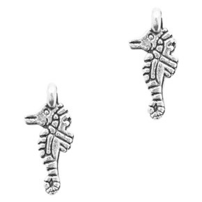 Metal charms seahorse Antique Silver