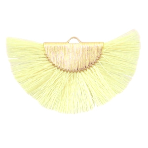 Tassels charm Gold-Light Yellow