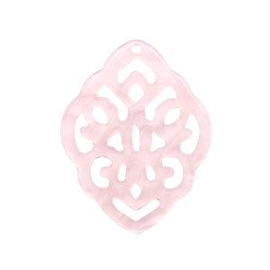 Resin pendants rhombus baroque Powder Pink