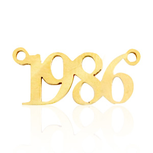 Stainless steel charms/connector year 1986 Gold