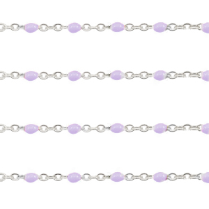 Stainless steel findings belcher chain 1mm Grapevine Purple-Silver