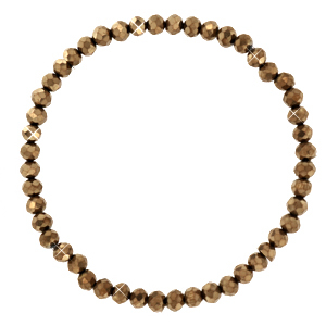Top faceted bracelets 4x3mm Copper-Pearl Shine Coating