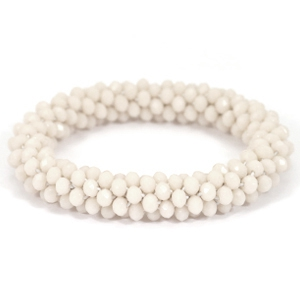 Top faceted bracelets Beige opaque