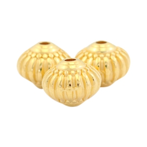 DQ metal beads deco 8x7mm Gold (nickel free)