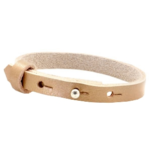 Cuoio bracelets leather 8mm for 12mm cabochon Metallic Champagne