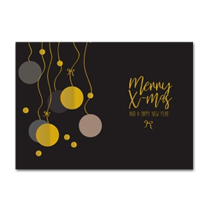 Jewellery cards Christmas DIY Black-Gold