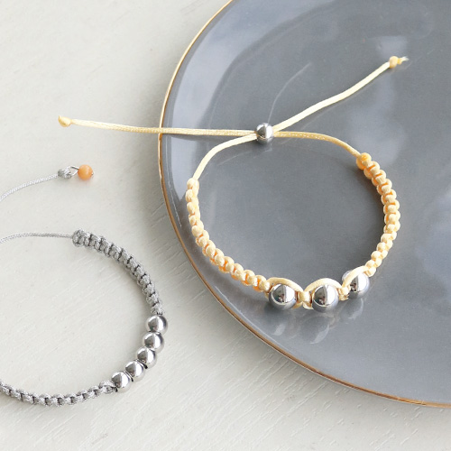 Bracelets and earrings with gold and silver stainless steel jewellery findings
