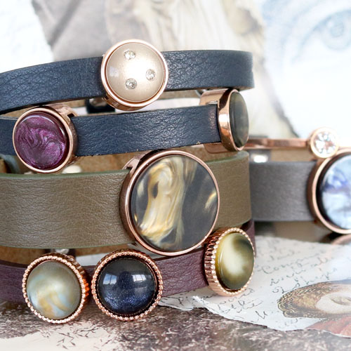 Style your own jewellery with these Cuoio bracelets in beatiful colours