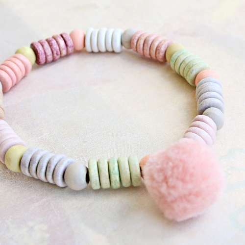 These bracelets in happy colours can be created with DQ Greek ceramic beads, how do you give your own twist to the design?