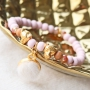 Fluffy jewellery with faux fur cabochons, faceted beads, wooden beads, settings and Cuoio bracelets