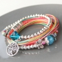 Colourful jewellery with coloured beads, DQ metal and new nylon S-Lon thread