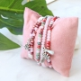 Colourful jewellery in soft pink and green shades faceted beads