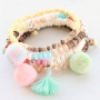 Caribbean jewellery with coconut beads and colourful beads!