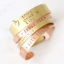 Spread the love! ImpressArt bracelets in antique bronze and copper