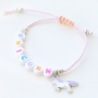 Cheerful kids necklaces and bracelets with colourful unicorns