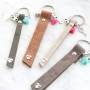 Personalised keychains of Designer Quality leather