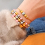 Cheerful bracelets with acrylic beads and DQ metal