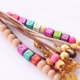 Personal bracelets and keychains with wooden beads + letter beads