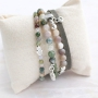 Create bracelets with new natural stone beads with a natural look