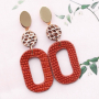Do It Yourself: Statement earrings with faux leather pendants