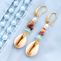Get ready for the beach! Jewellery making with our new trendy cowrie shell beads