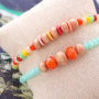All your favourite colours! Faceted beads bracelets