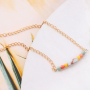 DIY: matching jewellery with Ibiza look made of natural stone beads jade