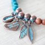 Be inspired: the most beautiful jewellery made of Copper Blue Platina Designer Quality metal and beautiful beads!