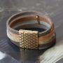 This cool DQ leather bracelet with animal pattern is totally hot for creating special jewellery