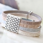 Cool & classy bracelets with flat DQ leather and DQ metal findings for a sophisticated look