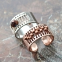 Amazing jewellery made of rose gold and silver DQ metal