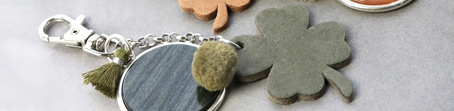 New! DQ leather pendants in clover shape and trendy colours.