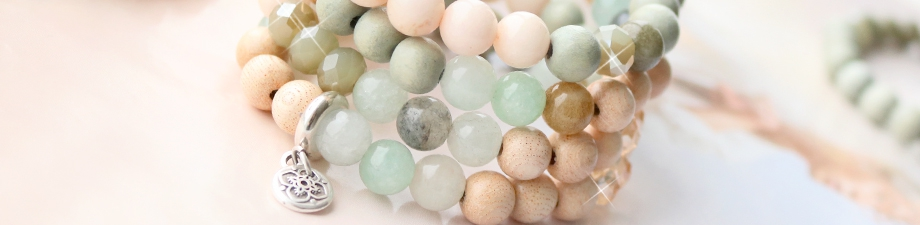 New soft coloured natural stone beads