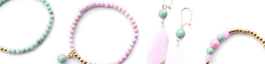 Jade beads in new colours and trendy designs