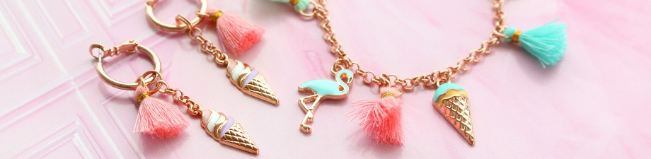 New: Metal charms with colourful details