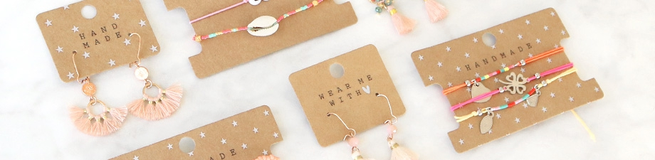 Pack and present your jewellery perfectly with jewellery cards