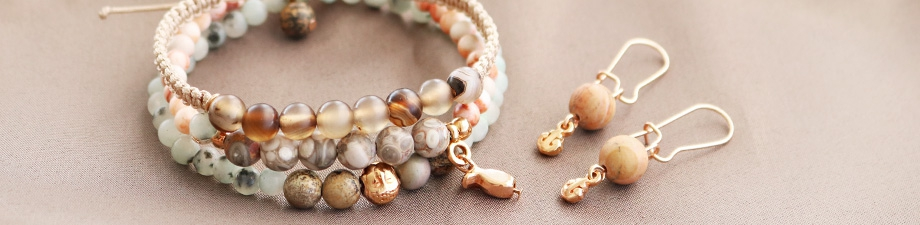Magically beautiful natural stone beads