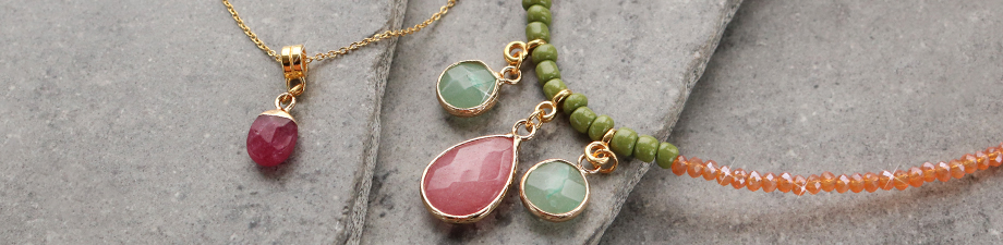Beautiful new natural stone charms for you!