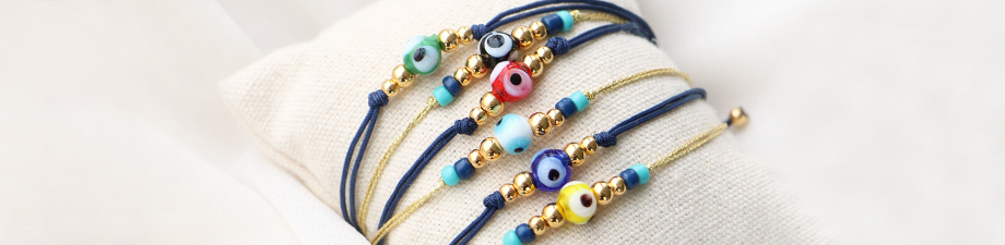 New in the collection: evil eye beads