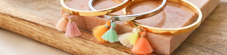 New! Tassels in summery colours