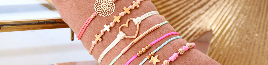 New macramé bead cord benefit packages in colours for summer!