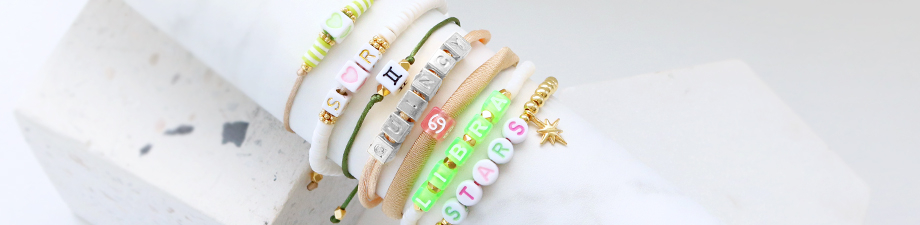 New collection acrylic letter beads + zodiac beads mix