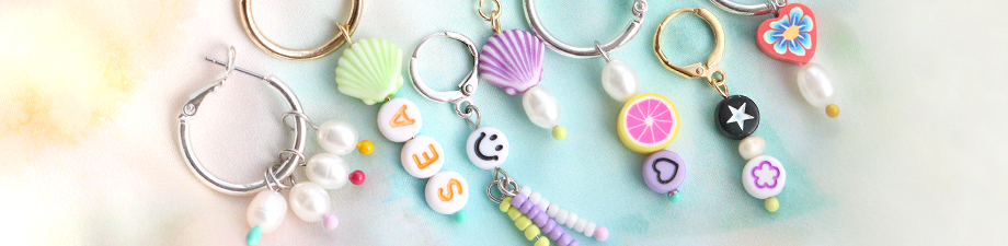 New! Acrylic smiley and letter beads